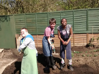 Learners develop new skills through garden expansion project